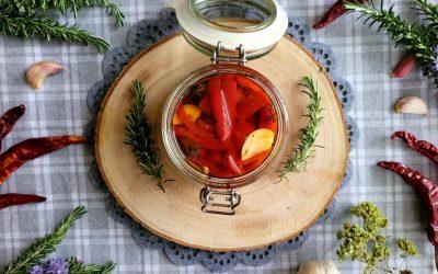 Pimientos rojos asados en conserva