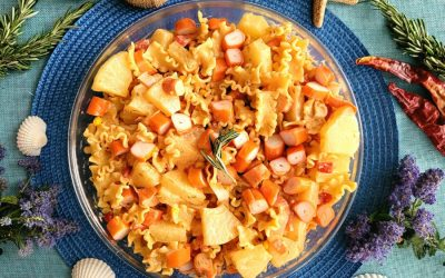 Ensalada tropical de pasta